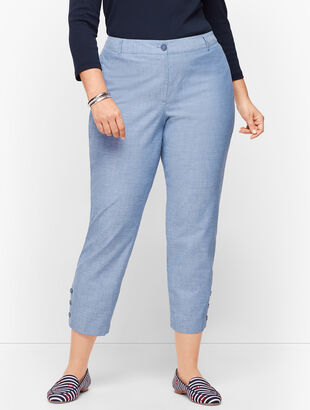 Perfect Crop Pants - Chambray