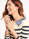 Chambray Bow Stripe Top