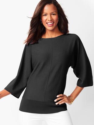 Dolman-Sleeve Sweater - Solid