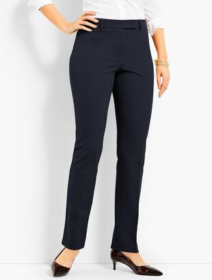 Bi-Stretch High-Waist Straight-Leg Pant-Curvy Fit