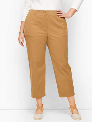 Patch Pocket Crop Chinos