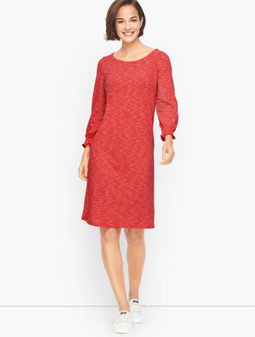 Smocked Cotton Shift Dress