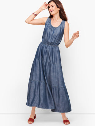Tencel Tiered Maxi Dress