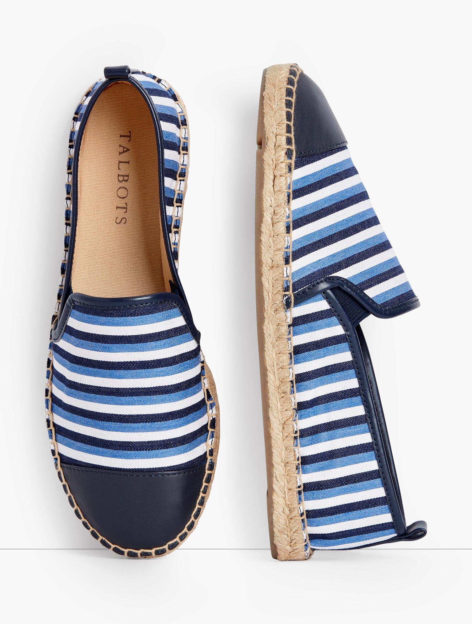 Lovers Classic Espadrilles Heel Sandals Casual Stripe Women Shoes