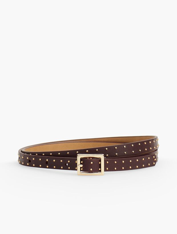 Nappa Stud Belt