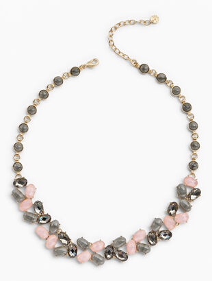 Pink & Neutral Statement Necklace