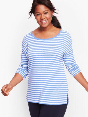 Open Back Stripe Pullover