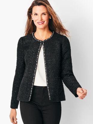 Tweed Sequin & Pearl Jacket