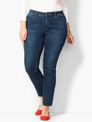 Studded Slim Ankle Jeans