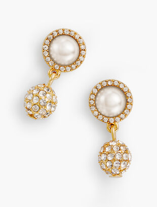 Pearl & Pavé Earrings