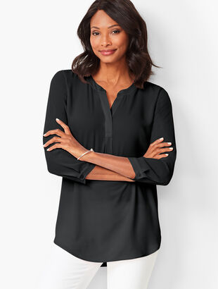 Banded-Collar Popover - Solid