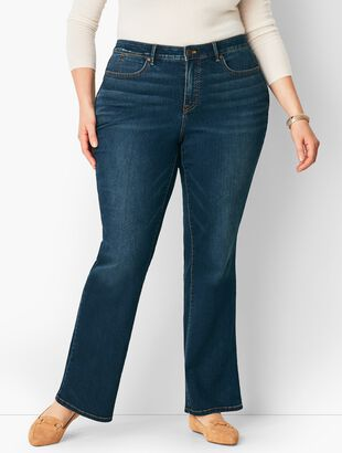 Plus Size High-Waist Barely Boot Jean - Pioneer Wash/Curvy Fit