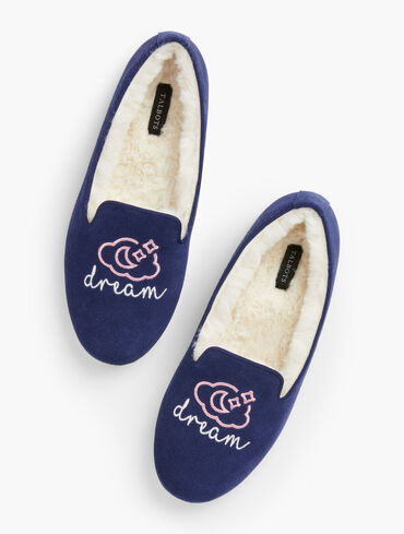 Dream Cloud Embroidered Fireside Slippers