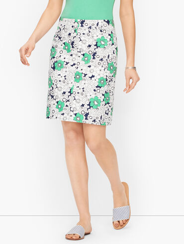 Button Front Skirt - Floral