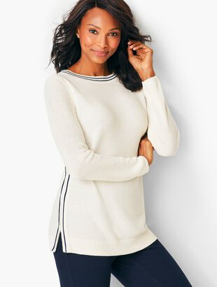 Side-Stripe Pullover