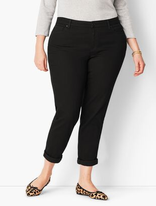Plus Size Girlfriend Jeans - Curvy Fit - Black