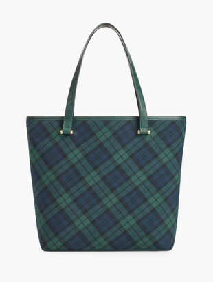 Black Watch Plaid Tote Bag
