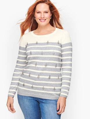 Sparkle Tree Stripe Sweater