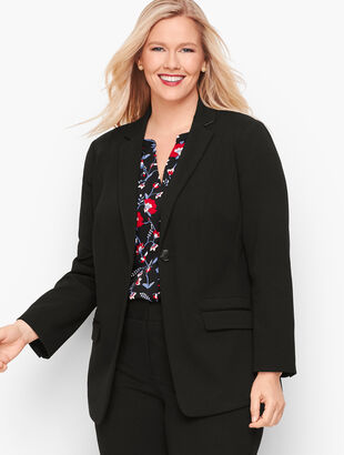 Italian Luxe Knit One-Button Blazer