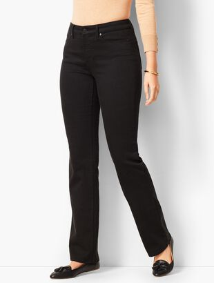 High-Rise Barely Boot Jeans - Never Fade Black/Curvy Fit