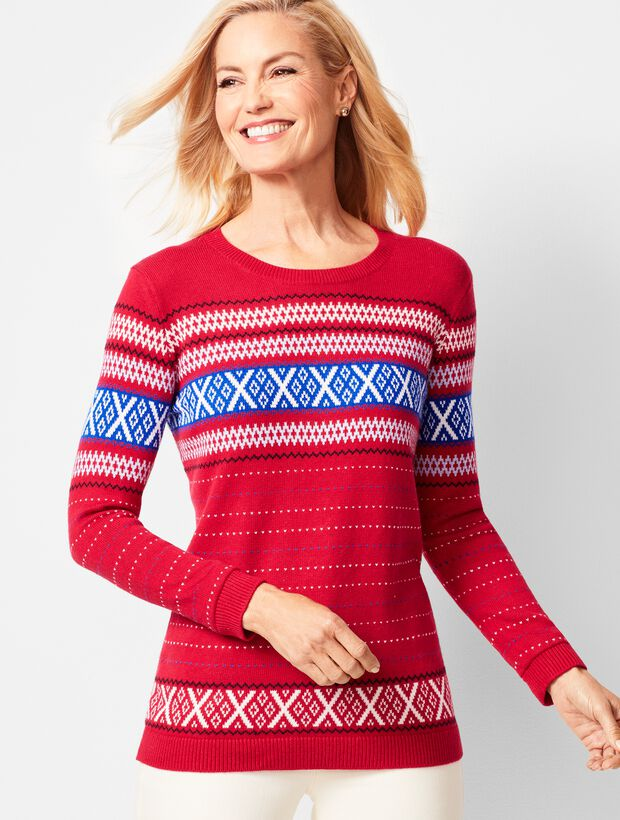 Criss-Cross Fair Isle Sweater