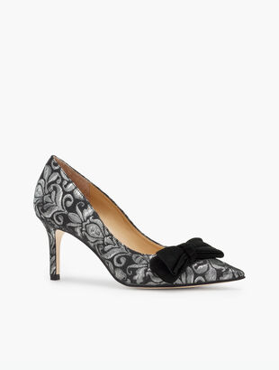 Erica Bow Pumps - Brocade