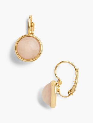 Glass Leverback Drop Earrings