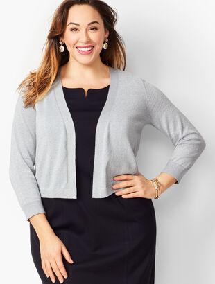 Plus Size Classic Dress Shrug - Metallic