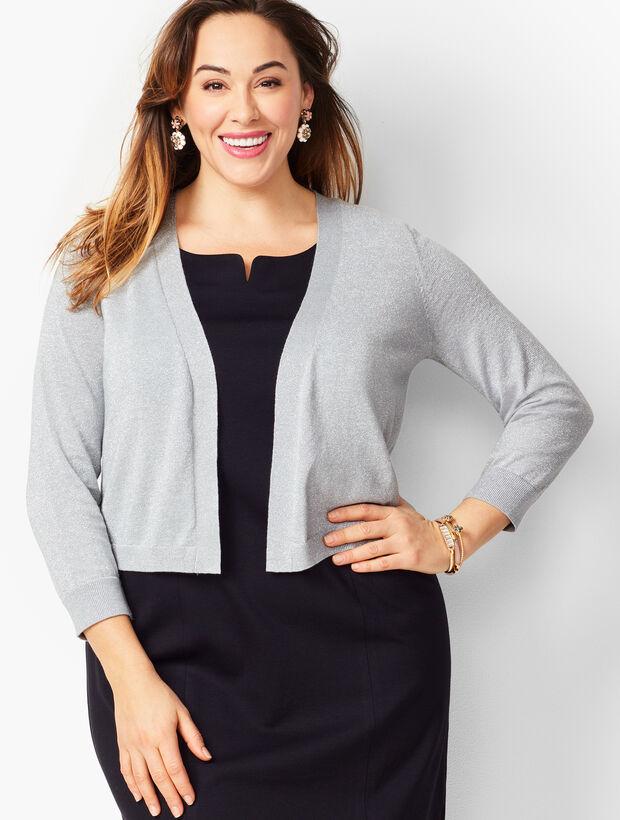 Plus Size Classic Dress Shrug - Metallic