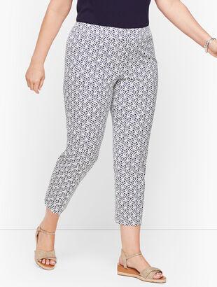 Plus Exclusive Talbots Chatham Crop Pants - Scallop Tiles