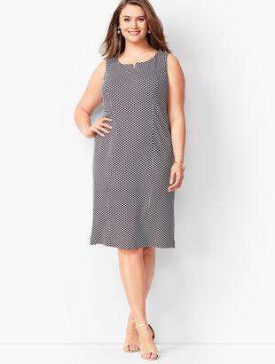 Refined Ponte Knit Sheath Dress - Honeycomb Print