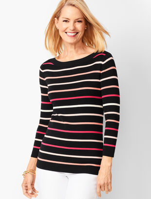 Classic Bateau-Neck Sweater - Stripe