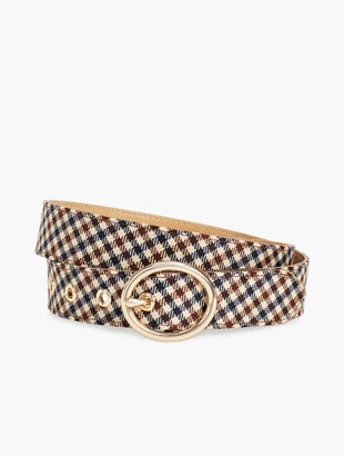 Everyday Plaid Belt