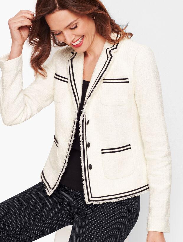 Piped Tweed Jacket