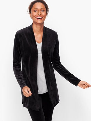 Luxe Velour Open Cardigan