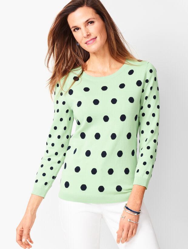 Intarsia Dot Sweater