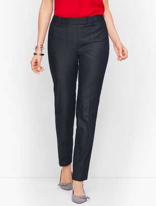 Cotton Bi-Stretch Pant - Polished Denim - Curvy Fit