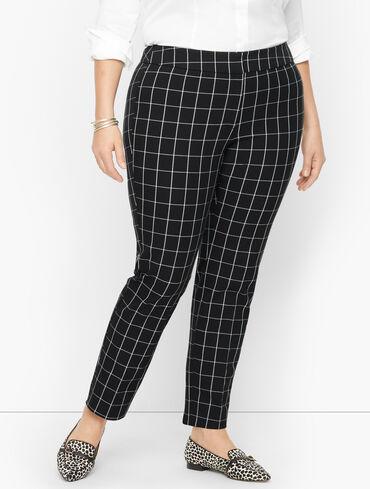 Plus Size Exclusive Talbots Chatham Ankle Pants - Window Pane