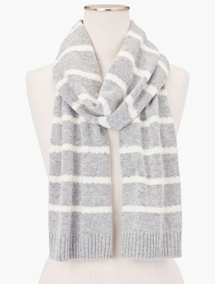 Cable Stripe Scarf