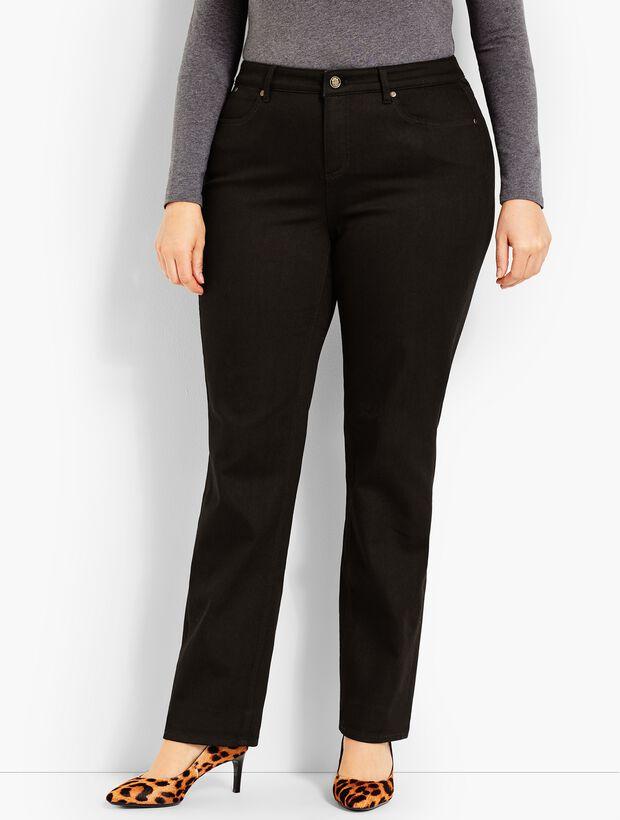 Plus Size Exclusive Comfort Stretch Denim Straight Leg Jeans - Black