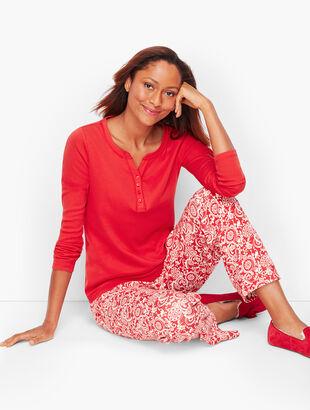 Pajama Set - Scrolling Floral Print