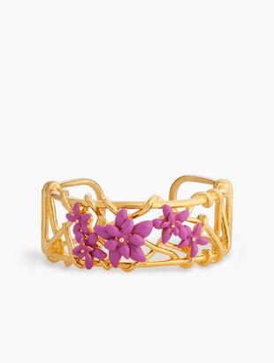 Enamel Flower Cuff