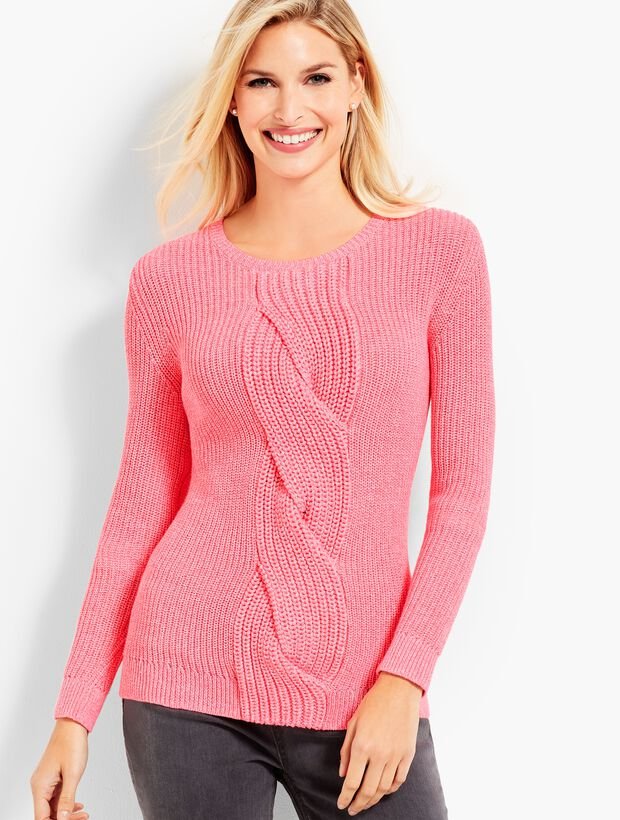 Cable Twist Sweater-Marled