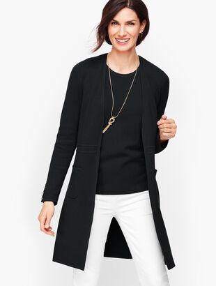 Cotton Modal Open Front Sweater