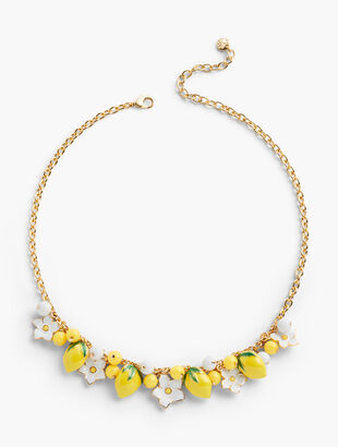 Flower & Lemon Necklace