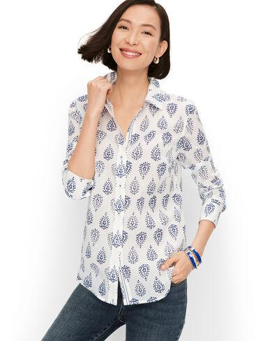 Classic Cotton Shirt - Woodblock Paisley