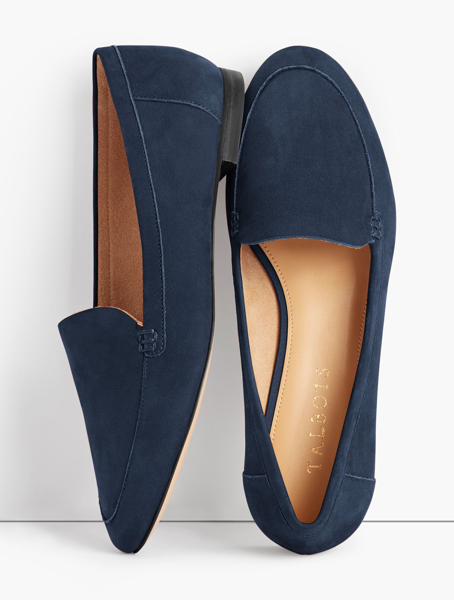 Ryan Pebbled-Leather Loafers   Talbots