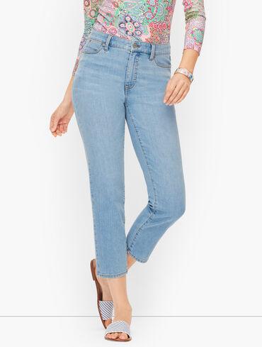 Straight Leg Crop Jeans - Anchor Wash