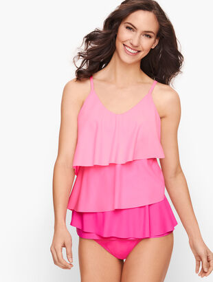 Miraclesuit® Tiered Tankini Top - Pink Splash Multi