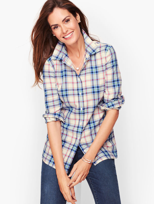 Classic Cotton Shirt - Enchanted Blue Plaid